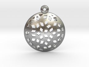 Pattern pendant in Natural Silver