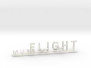 MOF Sign #3[72-1] in White Natural Versatile Plastic