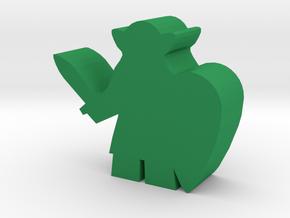 Game Piece, Elven Swordsman in Green Processed Versatile Plastic