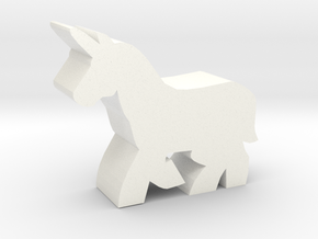 Game Piece, Unicorn in White Processed Versatile Plastic