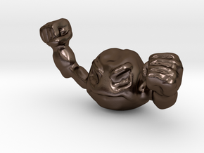 Geodude in Polished Bronze Steel