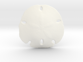 Sand Dollar in White Strong & Flexible Polished