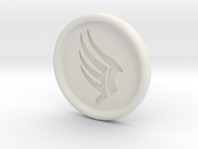 Mass Effect Paragon badge in White Natural Versatile Plastic