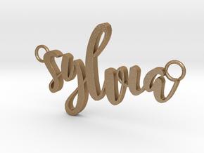 Sylvia in Matte Gold Steel