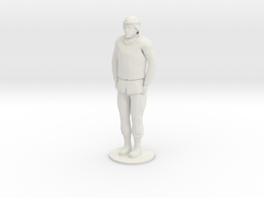 Male Soldier Standing in White Natural Versatile Plastic