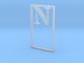 Bookmark Monogram. Initial / Letter  N  in Smooth Fine Detail Plastic