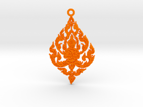 Buddha Pendant in Orange Processed Versatile Plastic