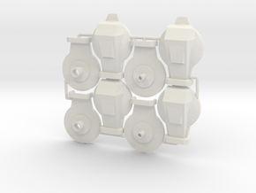 Cabal Goliath Thrusters (Large) in White Natural Versatile Plastic