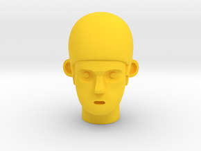 Crash Head in Yellow Processed Versatile Plastic