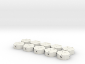 MGD-03 (10x): A Set with 10 Hexa-Y-parts in White Natural Versatile Plastic