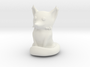 Cute Sandstone Fox in White Strong & Flexible