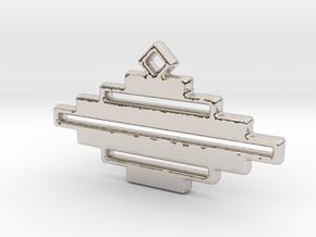 Zebra Pendant in Platinum