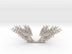 Parametric Necklace v.1 in Rhodium Plated Brass