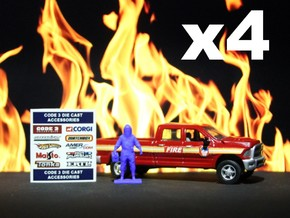 4 Level A Hazmat Techs with Toolboxes, 1/64 in Blue Processed Versatile Plastic