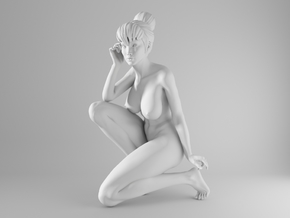 1/10 Sexy Girl Sitting 002 in White Strong & Flexible