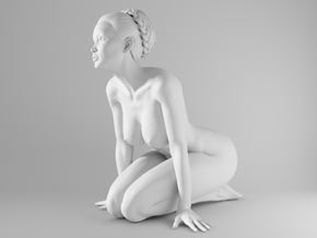 1/10 Sexy Girl Sitting 013 in White Strong & Flexible