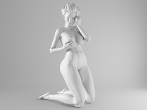 1/10 Sexy Girl Sitting 017 in White Strong & Flexible