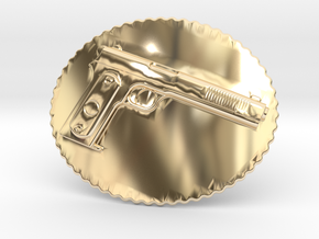 Colt1902 Belt Buckle in 14K Yellow Gold