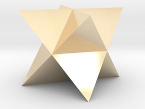 Mini-Merkaba - Solid - Sharp - 1cm in 14K Yellow Gold