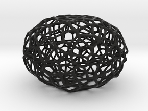Voronoi Pearl Light Lamp No. 3 (10,5 cm) in Black Natural Versatile Plastic