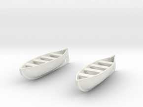 1:144 28 foot Life Boats (2) in White Natural Versatile Plastic