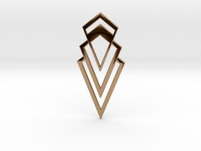Art Deco Pendant - Valorous in Polished Brass
