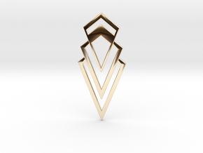 Art Deco Pendant - Valorous in 14k Gold Plated Brass