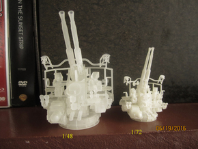 1/48  40mm Bofors Twin Mount USN WWII ships in Smooth Fine Detail Plastic