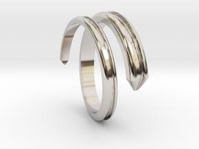 Ring 5 in Rhodium Plated Brass