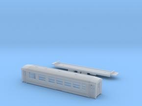 Passenger car type AB-1S w/bogie in Smooth Fine Detail Plastic