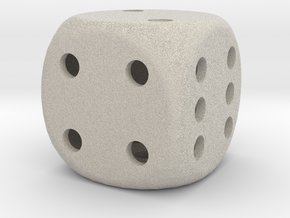 Dice, hollow in Natural Sandstone