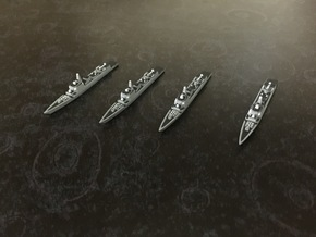 Type 052C Destroyer x 4, 1/1800 in White Natural Versatile Plastic