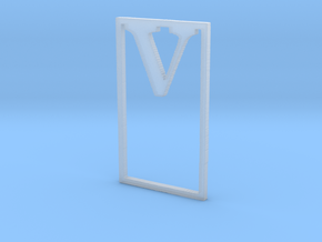 Bookmark Monogram. Initial / Letter V in Smooth Fine Detail Plastic