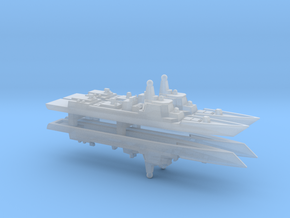 Type 052D Destroyer x 4, 1/2400 in Smooth Fine Detail Plastic