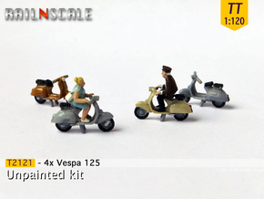 4x Vespa 125 (TT 1:120) in Smooth Fine Detail Plastic