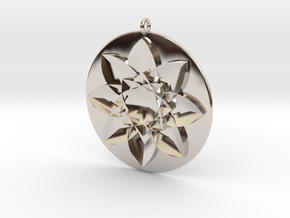 Jenna's Flower in Rhodium Plated Brass