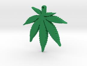 weed leaf down in Green Processed Versatile Plastic