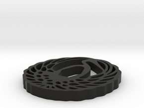 Crane Tsuba in Black Natural Versatile Plastic