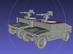 1/144 Humvee TOW (Dual Pack) in White Strong & Flexible
