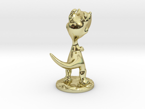 Poor T-Rex full-color miniature statue in 18K Gold Plated