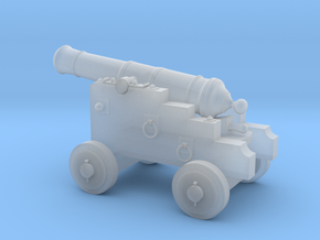 18th Century 3# Cannon-Small Naval Carriage 1/35 in Smooth Fine Detail Plastic