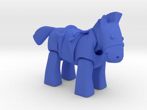 Ze' Pilo .  Cavalo . Horse in Blue Processed Versatile Plastic