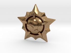 World Exploration Star in Natural Brass