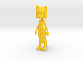 Egypt Kitty Figure in Yellow Processed Versatile Plastic