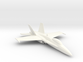 F-18 in White Strong & Flexible Polished