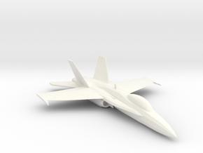 F-18 in White Processed Versatile Plastic