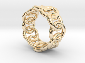 Chain Ring 18 – Italian Size 18 in 14K Yellow Gold