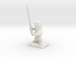 Clash of Clans - Barbarian in White Natural Versatile Plastic