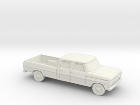 1/87 1967-69 Ford F-Series Crew Cab in White Strong & Flexible