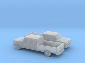1/160 2X 1967-69 Ford F-Series Crew Cab in Smooth Fine Detail Plastic